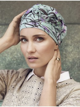 Azure Printed Turban | Headwear by Christine Headwear