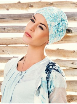 Lotus Printed Turban | Headwear by Christine Headwear