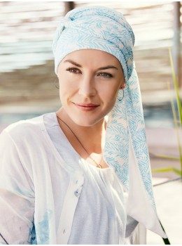 Mantra Long Printed Scarf | Headwear by Christine Headwear