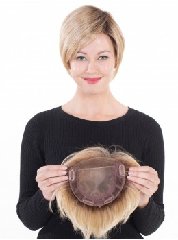 Mono Topper 6 | HF Synthetic Monofilament Hairpiece (Lace Front) by Belle Tress