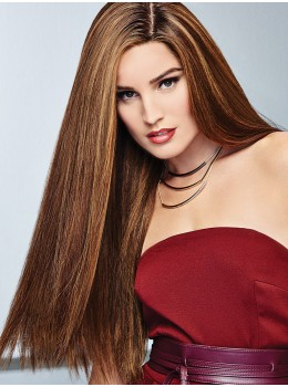 Glamour and More | Remy Human Hair Lace Front Wig (Hand-Tied) by Raquel Welch